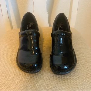 BOC Black Patent Clogs, size 9